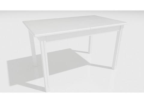 Стол обеденный Соболь деревянный прямоугольный раскладной белый