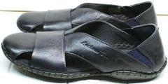 Мужские летние мокасины сандали с закрытым носком Luciano Bellini S314 Green.