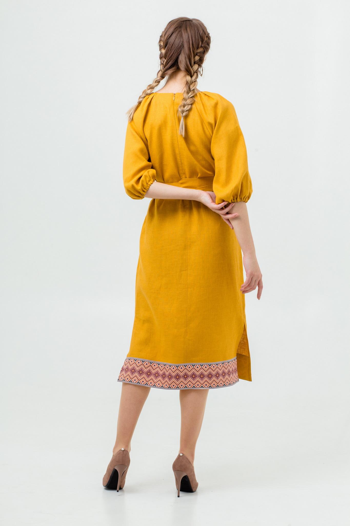 Платье Медовая горчица купить с доставкой