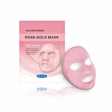Антивозрастная фольгированная тканевая маска для лица Rose Gold Mask Anti-Aging 23г