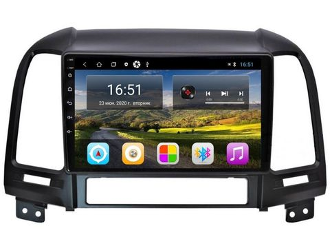 Магнитола для Hyundai Santa Fe 2006-2012 Android 11 2/16 IPS модель CB3075T3