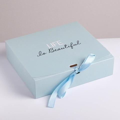 Коробка подарочная Life is beautiful, 20*18*5 см