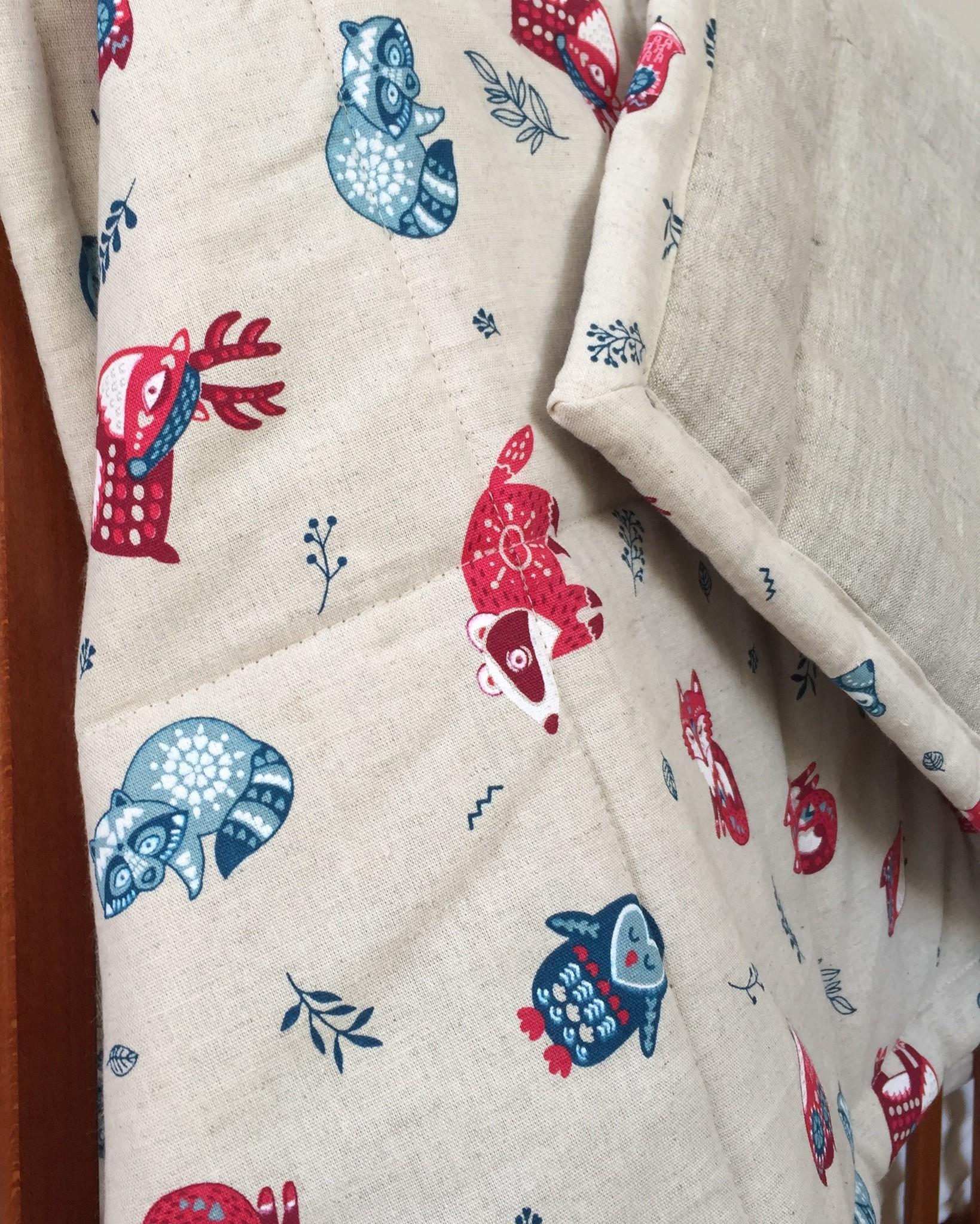 Детское льняное одеяло
