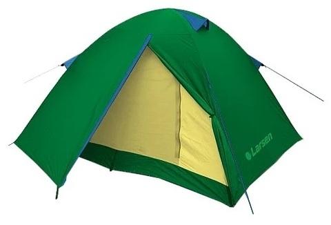 Палатка Larsen 3-х местная 2-х слойная А3 (772) зелен/голуб 230*290*130 2000мм 3,7 кг