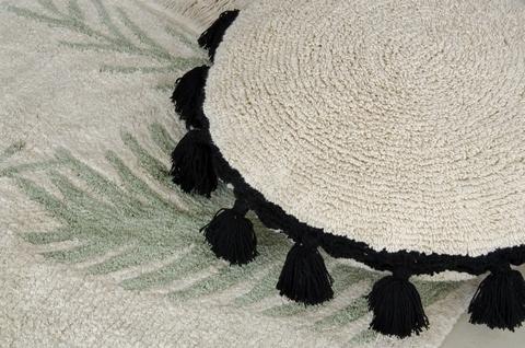 Подушка Lorena Canals Circle Black (Ø48 см)