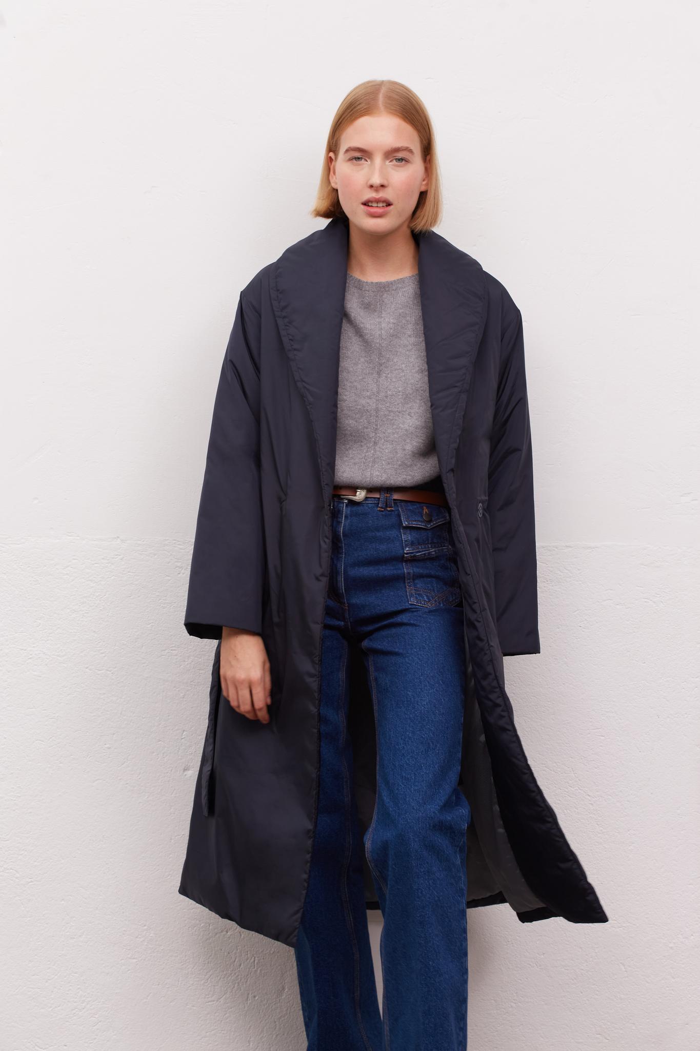 SAO - Стеганое пальто со съемным поясом