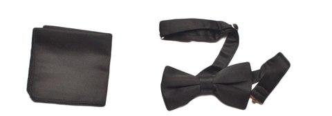 Комплект (бабочка, платок) Lorendi Capri черный