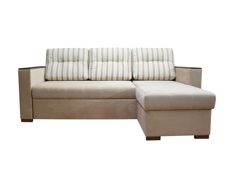 угловой диван-кровать Карелия-Люкс 2д2я без стола, подлокотники П3+П3