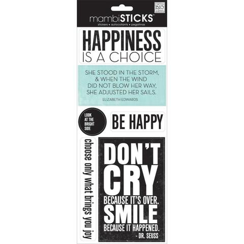 Стикеры  mambi Specialty Stickers Happiness Is A Choice 13х30 см