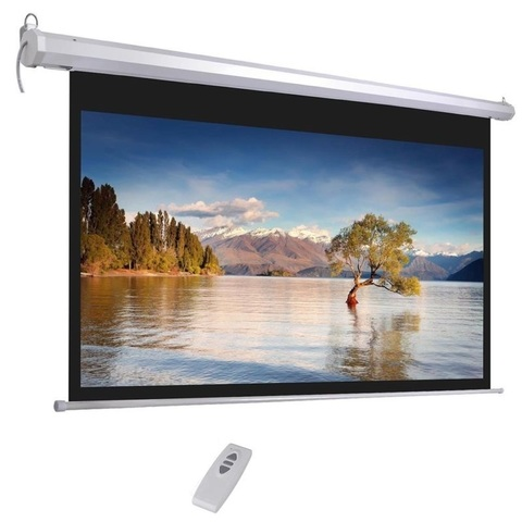 Моторизированный экран для проектора с электроприводом  100