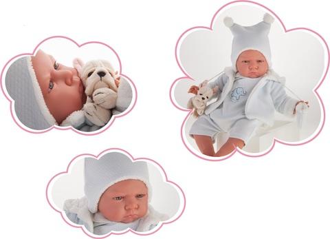 Munecas Antonio Juan Кукла Реборн младенец Марисоль в голубом 52см (8157B)