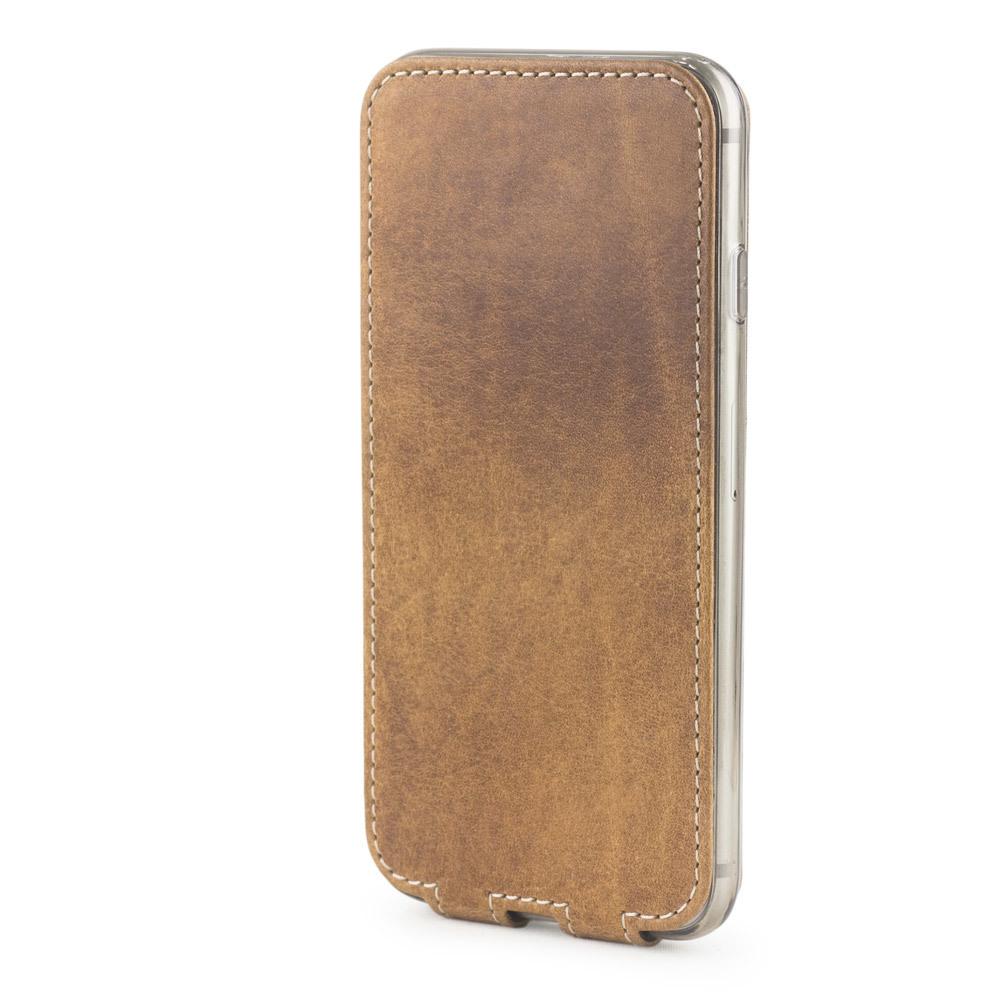 Чехол для iPhone 7 Plus из натуральной кожи теленка, цвета винтаж