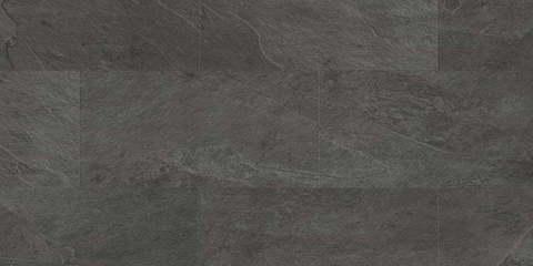ПВХ плитка, кварц виниловый ламинат Quick Step LVT Ambient Glue Сланец чёрный AMGP40035