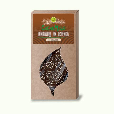 Шоколад из Кэроба необжар с кунжутом 85г Дары Памира