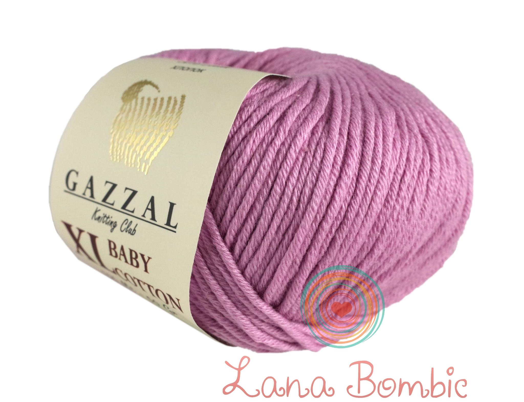 Пряжа Gazzal Baby Cotton XL 3422 розовый