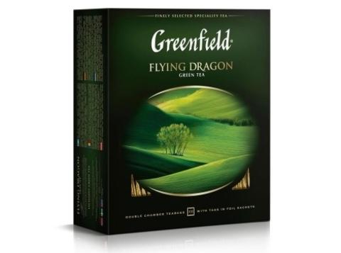 Чай зеленый Гринфилд Flying Dragon в пакетиках (100 шт)