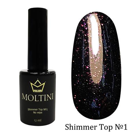 Топ с шиммером без липкого слоя Moltini Shimmer Top №1, 12 ml