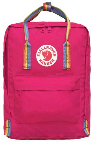 Рюкзак Fjallraven Kanken Classic Rainbow Ярко-розовый