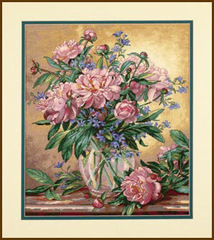 DIMENSIONS Пионы и колокольчики (Peonies and Canterbury Bells)