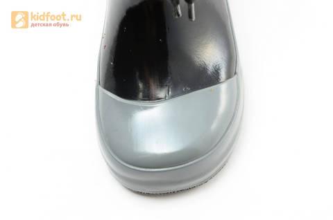 Резиновые сапоги Тачки (Cars) на шнурках для мальчиков, цвет черный. Изображение 9 из 10.
