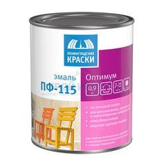 Эмаль алкидная Ленинградские краски ПФ-115 Оптимум белая глянцевая, 0,9кг