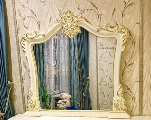 Зеркало ДЖОКОНДА крем глянец