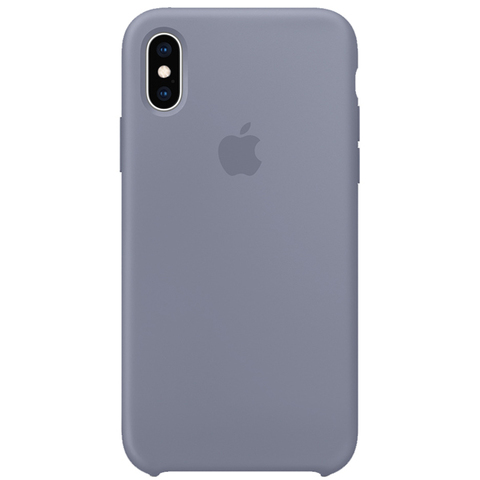 iPhone XS Max Silicone Case Lavender Gray