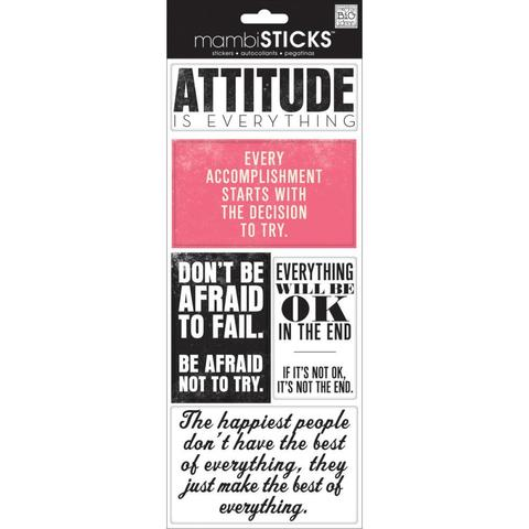 Стикеры  mambi Specialty Stickers Attitude Is Everything 13х30 см
