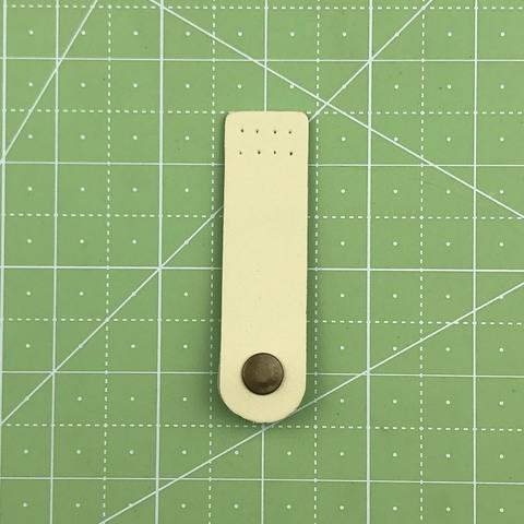 Ремешок для кошелька на кнопке 7,5 см. (Топленое молоко)