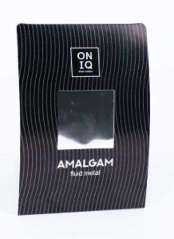 ONF-001 Фольга для дизайна ногтей. AMALGAM Fluid metal: Silver Nail Foil