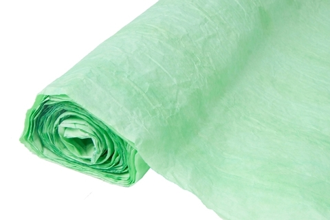 Бумага жатая эколюкс 70см х 5м ярко-зеленая 16