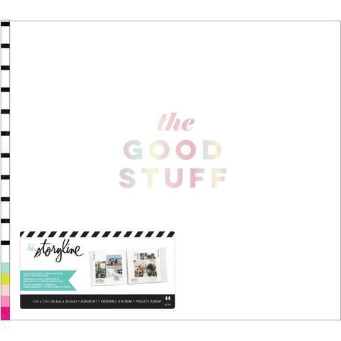 Альбом в переплете для Project Life 30х30 см - Heidi Swapp Storyline 3 Post Bound Album- The Good Stuff
