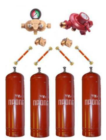 Газобаллонная система GOK (премиум) для подключения 4 металлических баллонов