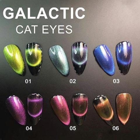 Гель лак кошачий глаз Galactic Cat eyes 01 , 10 мл
