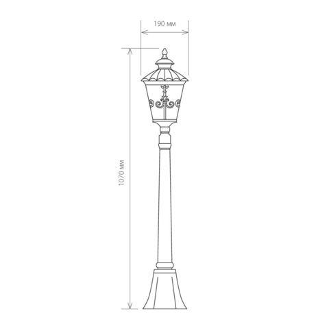 Diadema F черное золото уличный светильник на столбе IP44 GLYF-8046F