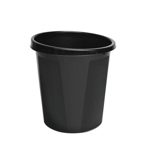 Корзина для мусора Стамм 9 л пластик черная (27х29 см)