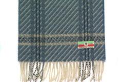 Шерстяной шарф, мужской с узором серый 30681