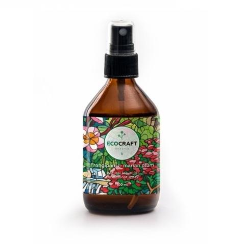 Cпрей-кондиционер термозащитный и антистатический для волос Франжипани и марианская слива | Ecocraft