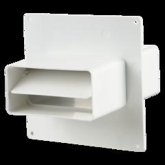 Соединитель каналов с пластиной и обратным клапаном 110х55 мм