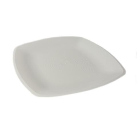 Тарелка одноразовая плоская АВМ-Пластик пластиковая белая 18x18 см 12 штук в упаковке