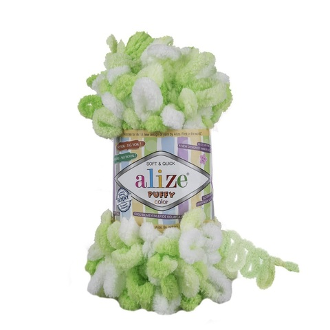Пряжа Alize Puffy Color цвет 5937