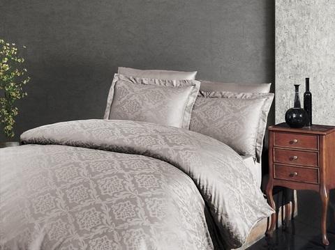 Комплект постельного белья DO&CO Сатин  жаккард TALON 2 спальный (Евро) цвет молочный