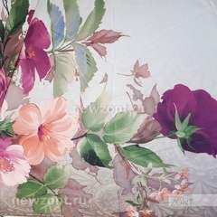 Женский мини зонт TRUST с цветками и порхающей бабочкой
