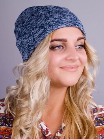 Фэшн. Молодёжные женские шапки. Голубой ангора флис.