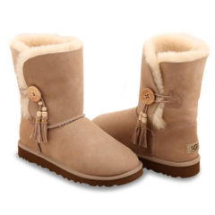 UGG Bailey Button Charms Sand