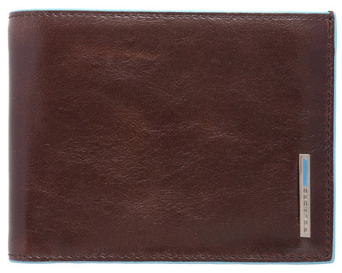 Кошелек Piquadro Blue Square, коричневый, 12,5х9,5х2 см