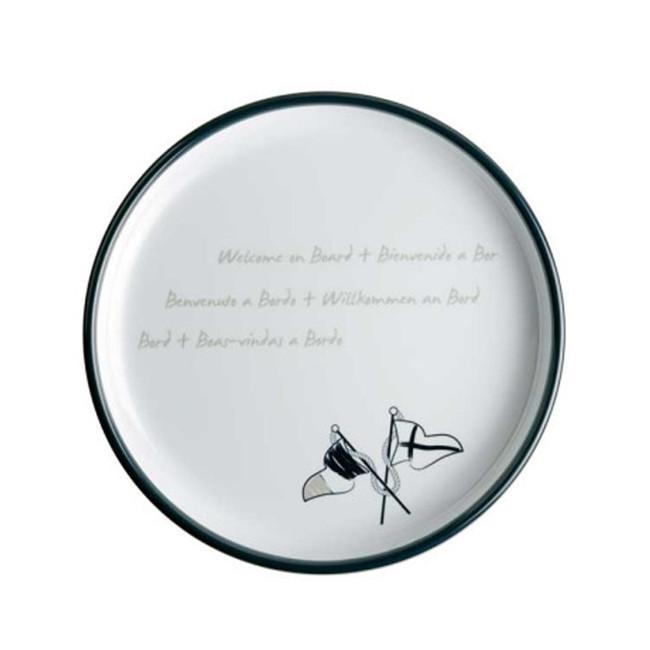 MELAMINE NON-SLIP DESSERT PLATE, WELCOME ON BOARD 6 UN