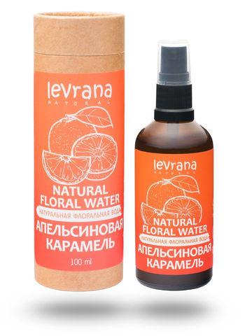 Levrana Натуральная флоральная вода для лица и тела. Апельсиновая карамель, 100мл