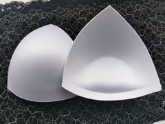 Чашки треугольные, пуш-ап, 65С, 70В, 75А, белые