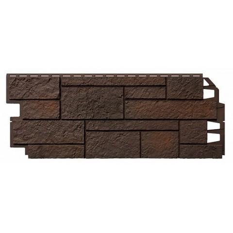 Фасадные панели (Цокольный Сайдинг) VOX Sandstone (Сандстоун) Dark Brown (Темно-коричневый)
